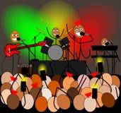 Stockzahlen Band geben ein Rockkonzert Stockfotos