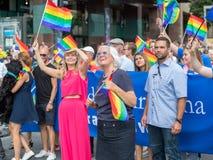 Éstocolmo Pride Parade 2016 Imagens de Stock