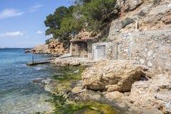 Stoczni budy, kulturalny interes blisko do morza, miasteczko Sant Anto Zdjęcie Stock