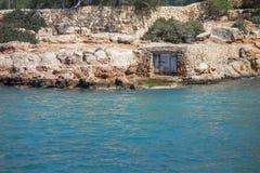 Stoczni budy, kulturalny interes blisko do morza, Sant Antoni Obraz Royalty Free