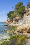Stoczni budy, kulturalny interes blisko do morza, Sant Antoni Obraz Stock