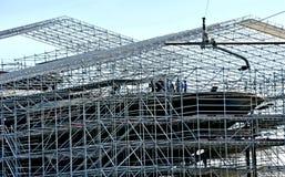 Stocznia buduje mega jacht Obraz Royalty Free