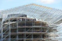 Stocznia buduje mega jacht Obraz Stock
