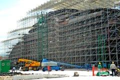 Stocznia buduje mega jacht Zdjęcie Stock