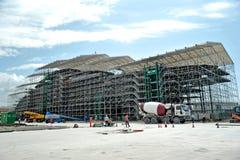 Stocznia buduje mega jacht Zdjęcia Stock
