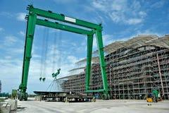 Stocznia buduje mega jacht Obrazy Stock