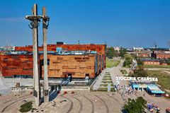 Stocznia Gdanska shipyard Poland Solidarnosc. GDANSK, POLAND - SEPTEMBER 09, 2016, Stocznia Gdanska: European Solidarity Centre,  the historic Gate No. 2 main Stock Image