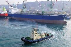 stocznia tankowiec zdjęcie stock