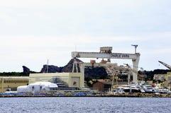 Stocznia w losie angeles Ciotat blisko Marseille Obraz Royalty Free