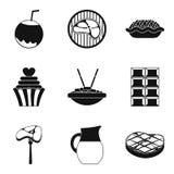 Stodge icons set, simple style. Stodge icons set. Simple set of 9 stodge vector icons for web isolated on white background Stock Photography