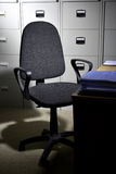 Stoel in bureau Stock Foto