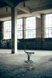 Stoel in een fabriek stock foto's