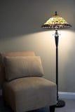 Stoel en Lamp Royalty-vrije Stock Afbeeldingen