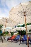 Stoel en Paraplu Royalty-vrije Stock Foto