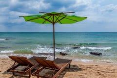 Stoel in het strand in Vietnam Stock Fotografie