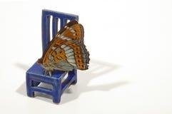 Stoel met vlinder 2 Royalty-vrije Stock Fotografie