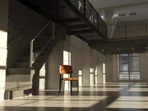 Stoel in minimalistisch binnenland Stock Afbeeldingen