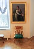 Stoel onder het beeld Royalty-vrije Stock Fotografie