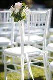 Stoel op een rij voor de gasten bij een huwelijksceremonie Royalty-vrije Stock Fotografie