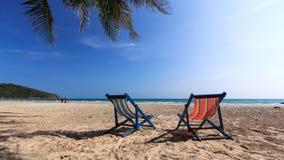 Stoel op strand Royalty-vrije Stock Foto
