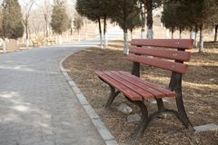 Stoel in park Royalty-vrije Stock Fotografie
