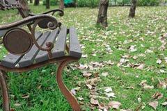 Stoel in park Royalty-vrije Stock Foto's