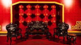 Stoel van het luxe de Chinese houten meubilair Stock Afbeeldingen