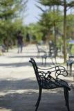 Stoelen in de tuin, van ijzer, versie 1 wordt gemaakt die Royalty-vrije Stock Afbeelding