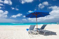 Mooi Caraïbisch strand stock afbeelding