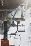 Stoellift in Sneeuw Royalty-vrije Stock Afbeeldingen