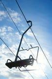 Stoeltjeslift in zonneschijn Royalty-vrije Stock Fotografie