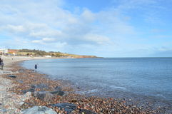 Stoenhaven plaża, Aberdeenshire, Szkocja Zdjęcie Stock