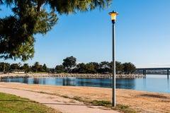 Stoep door het Park van het Vakantieeiland in San Diego stock foto's