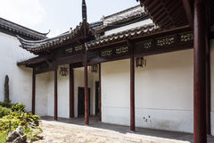 Stoep im Nanjing-Ming-Dynastie-Palast - zhan Garten lizenzfreie stockfotos