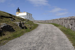 Stoer Head Lighthouse. View of Stoer Head lighthouse in Sutherland Highlands Scotland Royalty Free Stock Photo