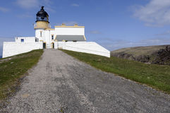 Stoer Head Lighthouse. View of Stoer Head lighthouse in Sutherland Highlands Scotland Stock Image