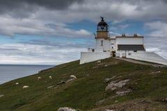 Stoer-Kopf-Leuchtturmkomplex, Schottland Stockfotografie