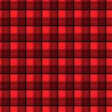 Stof in het rode en zwarte geruite Schots wollen stof van het vezel naadloze patroon EPS10 Stock Afbeeldingen
