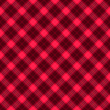 Stof in het rode en zwarte geruite Schots wollen stof van het vezel naadloze patroon EPS10 Royalty-vrije Stock Afbeelding