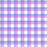 Stof in het roze en lilac en blauwe geruite Schots wollen stof van het vezel naadloze patroon EPS10 Royalty-vrije Stock Afbeeldingen