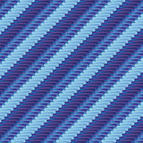 Stof met blauw streeppatroon Stock Fotografie