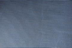 Stof met blauwe en witte horizontale strepen Royalty-vrije Stock Afbeelding