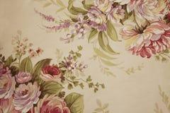 Stof met bloemenontwerp Stock Afbeeldingen