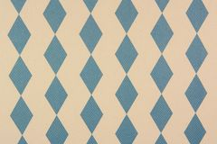 Stof met een patroon van lichtblauwe ruiten op de witte achtergrond stock fotografie