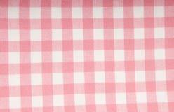 Stof met roze en wit patroon Stock Fotografie