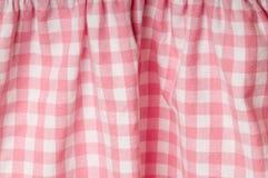 Stof met roze en wit patroon Stock Foto's