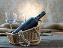 Stof op de fles wijn Royalty-vrije Stock Foto
