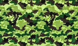Stof op militaire camouflage Stock Foto's