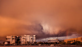 Stof stust onweer over Phoenix, Scottsdale, Az, op 12/29/2012 Royalty-vrije Stock Afbeeldingen