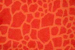 Stof van de de fantasie oranje winter van de giraf de imitatie stock afbeelding